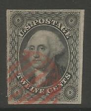 STAMPS-UNITED STATES. 1851. 12c Black - Washington. Scott 17. Used