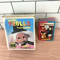 Norfin Trolls Trading Cards Series 1 - COMPLETE 50 CARDS - Vintage 1992 w/Box