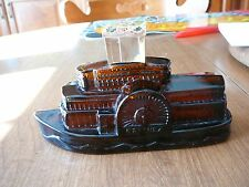 Vintage Avon Glass Avon Side Wheeler River boat w/Wild Country After Shave 5 oz