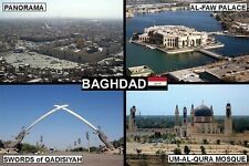 SOUVENIR FRIDGE MAGNET of BAGHDAD IRAQ