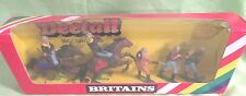Britains Deetail 5 Piece  Metal Base 7th Cavalry Foot and Mounted (5) W/Bugler