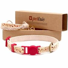 Pettsie Cat Collar Breakaway Safety and Friendship Bracelet for You, Durable