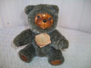 "1986 Raikes Bears ~ Original Gray Bear ~ 9"" Tall ~ Jointed ~ with Tag"