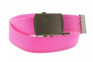 Unisex Neon Pink Novelty Fancy Dress Canvas Belt Adjustable One Size New