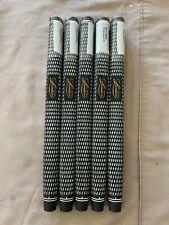 5 X Lamkin Golf Crossline Paddle White Infill STD 58r Putter Grips 100650