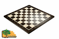 WENGE CHESS BOARD No.5+ With Notation - 48cm / 18.9 in Professional Wooden