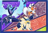 Pokemon center JAPAN - Necrozma & Lycanroc Dusk Form - official Post Card