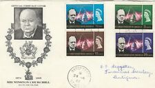 NEW HEBRIDES(BR) 1965 CHURCHILL FDC, SG#114-117, SC#112-115