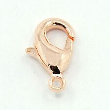 Pack of 20 x  Rose Gold Plated 12mm Lobster Clasps    J1494a