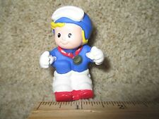 Fisher Price Little People Winter Olympic USA Team Skier Downhill ski snow girl