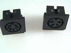 DIN Socket PCB Right Angle Mount Range 4 to 8 Way 2 Pieces EB43