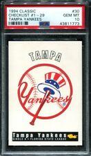 1994 Classic Derek Jeter PSA 10 Tampa Yankees Checklist #30 Rookie RC