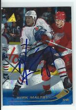 Kirk Maltby Signed 1995/96 Pinnacle Rink Collection Card #126