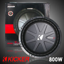 "KICKER 40CWR124 COMPR SERIES 12"" 800W SUBWOOFER DUAL 4-OHM DVC CAR AUDIO SUB"