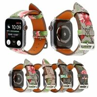 Fashion Luxury leather bracelet strap watch band  for Apple watch series 4 3 2 1