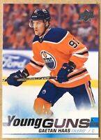 "2019-20 GAETAN HAAS UPPER DECK ""YOUNG GUNS"" ROOKIE RC #232 Edmonton Oilers"