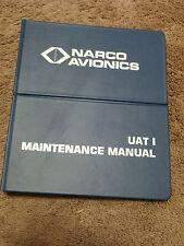 NARCO UAT 1 UHF Transponder Service Maintenance Manual Installation UTC-2