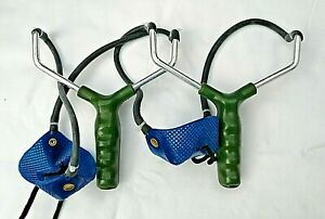 MOD 2 x FISHING CATAPULT DEAL WITH ELASTIC AND LARGE POUCH BOILIE, PARTICLE USE