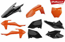 KTM SX 125 150 SXF 250 350 450 16 17 18 Polisport PLASTIC KIT Orange Black 90834