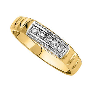 14k Two-toned Gold Cubic Zirconia 3-mm Ladies Wedding Band