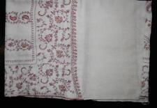 INDIAN Kashmir-Kashmiri fatto a mano PASHMINA Cashmere Scialle/Stola con ricamo