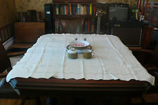 Collection of Vintage antique linen Tablecloth for Bed & Breakfast: lot #7