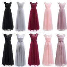 Women Long Evening Party Ball Prom Gown Bridesmaid Formal Cocktail Tulle Dress