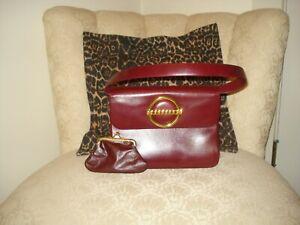 Vintage Cherry Red RODO Handbag Mint Condition!