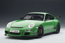 Porsche 911 (997) GT3 RS Green w/Black Stripes 1:12 Autoart LE MIB