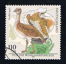 GERMANIA 1 FRANCOBOLLO BENEFICENZA UCCELLI GROSSTRAPPE 1998 timbrato (BD5429)
