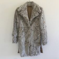 Sisley Womens Fur Coat Made in Italy Brown Size Small