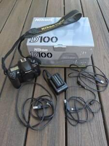 Nikon D100 6.1MP Digital SLR Body w/ Battery, Charger, Cords, Original Packaging