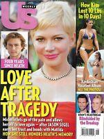 Us Weekly Magazine Michelle Williams Heath Ledger Kim Kardashian Adam Levine