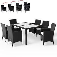 DEUBA Conjunto de sillas y mesa poliratán 6+1 sillas apilables