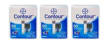Bayer Contour Diabetic Blood Glucose Test Strips, 3 x 50ct Box 7097C 7908C