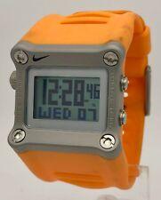 Nike Hammer WC0021 Bright Orange Black Digital Chronograph Sport Mens Watch