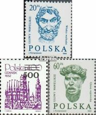 Poland 3196,3234,3236 fine used / cancelled 1989 Heads, print edition