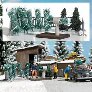 BUSCH HO SCALE 1/87 CHRISTMAS TREE SALE KIT | BN | 1182