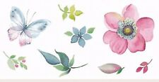 13335-BC New Design 8 pieces Flower Butterfly Leaf Bits Ceramic Decals Dx