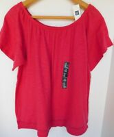 NWT Gap Women's Off Shoulder Top Maui Rose M XL MSRP$25 Free Shipping NEW