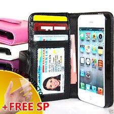 7x BULK Premium Flip Wallet Card Holder Leather Case Cover for Apple iPhone 5 5g