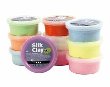 Creativ 10 x 40 g Silk Clay Assorted Colours Basic 2 Set, Kids, Adult Gift Ideas