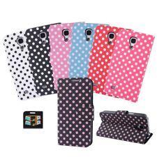 Handy Tasche Schutz Hülle Wallet Punkte Flip Case Etui Book Style Smartphone TOP