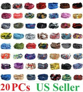 20x Face Mask Sun Shield Neck Gaiter Bike Balaclava Neckerchief Bandana Headband