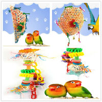Pet Bird Parrot Swing Cage Toy Foraging Toys Chew Bites for Parakeet 3 Ty Dlxy