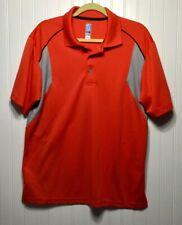 Pga Tour Airflux Mens Size Large Orange Gray Polo Golf Shirt