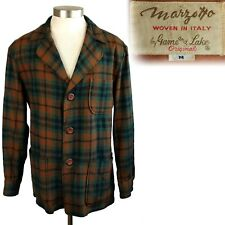 New listing 1950s Vintage Marzotto Game and Lake Plaid Wool 49er Jacket M