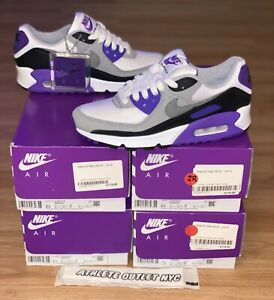 New Air Max 90 Hyper Purple Black Grey Women's Size 6-6.5 Sneakers CD0490-103