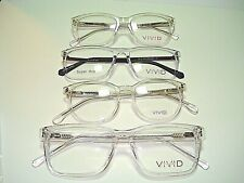 LOT OF 4 NEW AUTHENTIC VIVID CRYSTAL  EYEGLASSES ASST