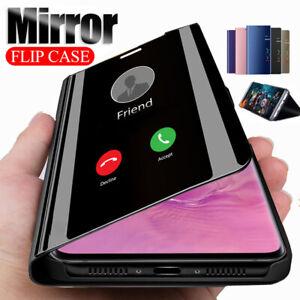 Hülle Xiaomi Mi Poco X3 NFC Flip Case Clear View Schutz Cover handy Etui Spiegel